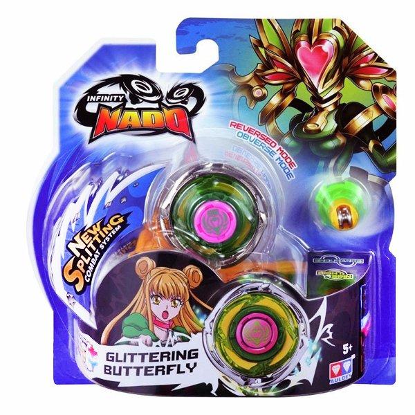 Волчок Infinity Nado с устройством запуска Glittering Butterfly (Искрящаяся Бабочка), YW624303