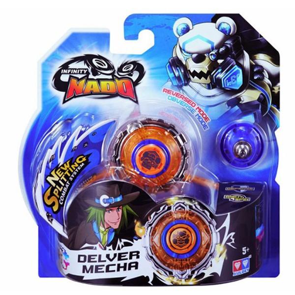 Волчок Infinity Nado с устройством запуска Deliver Mecha (Стальной Медведь), YW624306