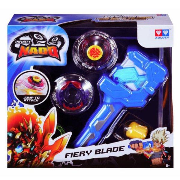 Волчок Infinity Nado с устройством запуска серии Атлетик Fiery Blade (Огненный клинок), YW624502
