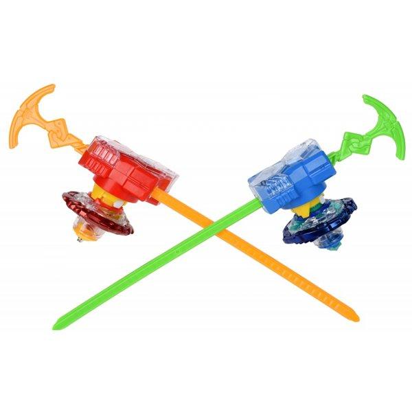 Арена Infinity Nado с двумя волчками с устройствами запуска Holy Whisker (Небесный Вихрь) и Fiery Blade (Огненный Клинок), YW624801