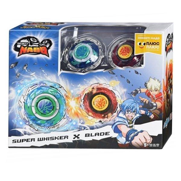 Набор из двух волчков Infinity Nado с устройствами запуска Super Whisker (Небесный Вихрь) и Blade (Клинок), YW624313